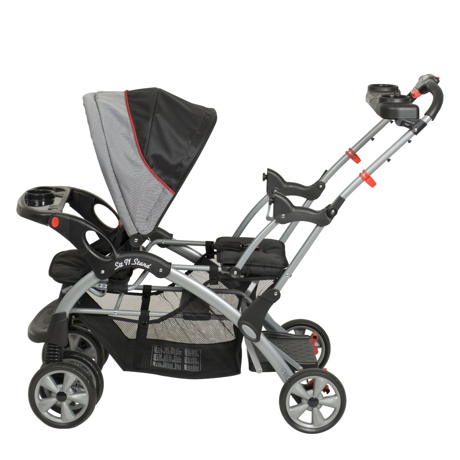 Double Stroller With Toddler Stand Strollers 2017