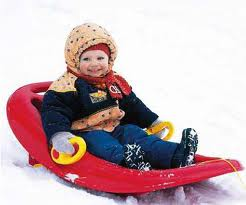 When visiting Park City, Utah rent a pull sled for your child .